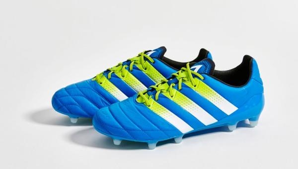 a2ecc797a adidas ACE 16.1 Leather Shock Blue/Semi Solar Slime/White | Volky ...
